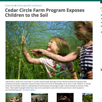 Cedar Circle Farm Program Exposes Children to the Soil
